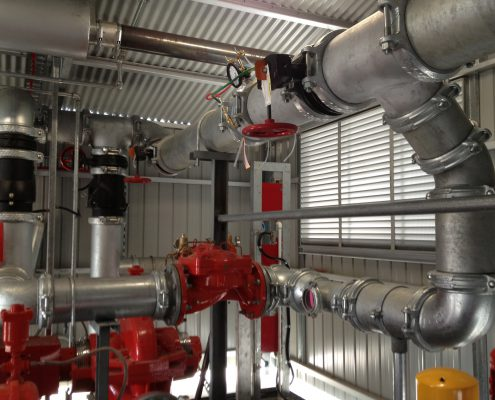 Fire Pump Room Pipework